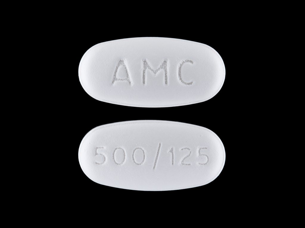 amoxicillin and clavulanate potassium tablet, film coated - (amoxicillin 875 mg clavulanate potassium 125 mg) image