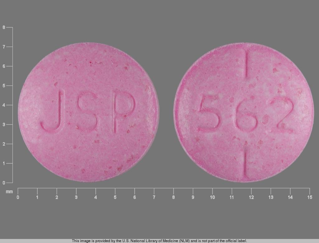 levothyroxine sodium 0.112 mg - jsp 562 ROUND RED image