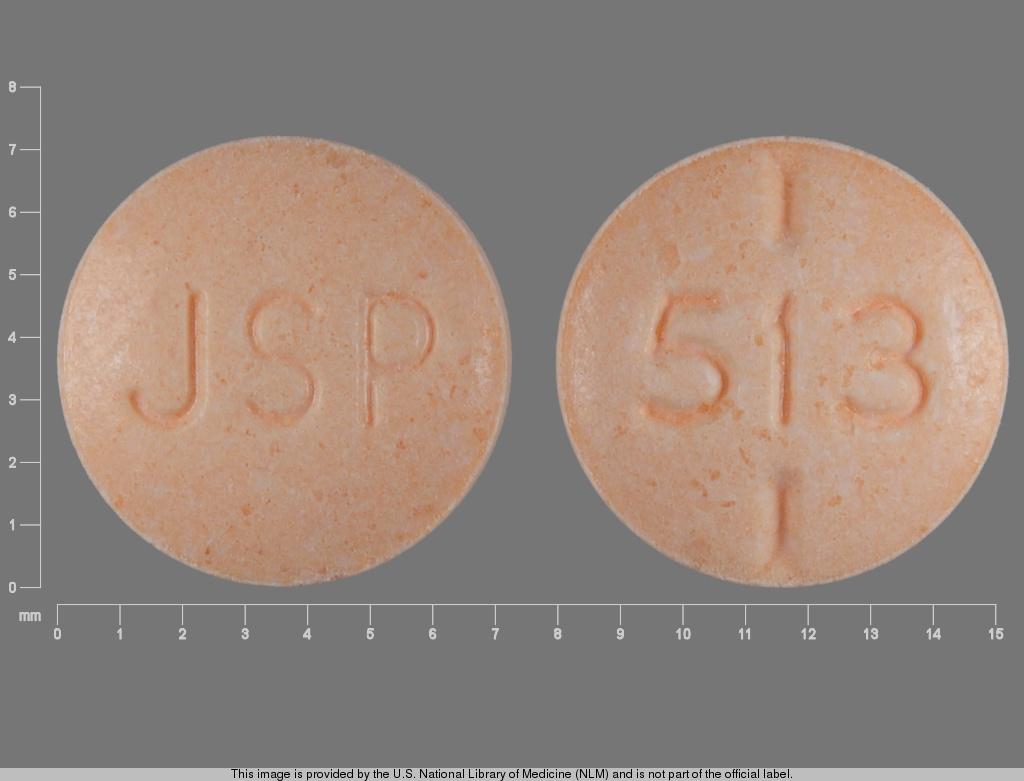 levothyroxine sodium 0.025 mg - 513 ; 513 jsp ROUND ORANGE image