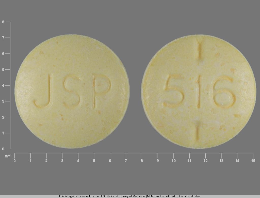 levothyroxine sodium 0.1 mg - jsp 516 ROUND YELLOW image