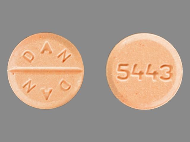 prednisone 20 mg - dan dan 5443 ; 5443 ROUND ORANGE image