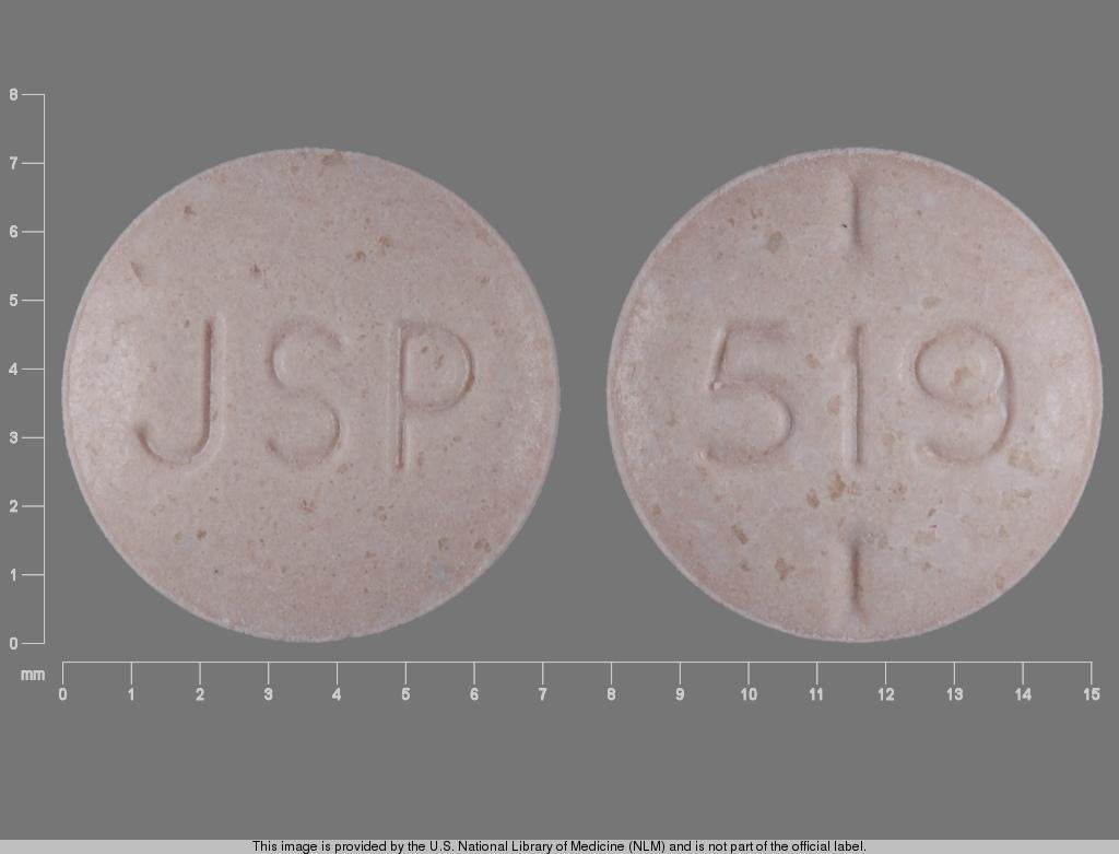 levothyroxine sodium 0.125 mg - jsp 519 ROUND BROWN image