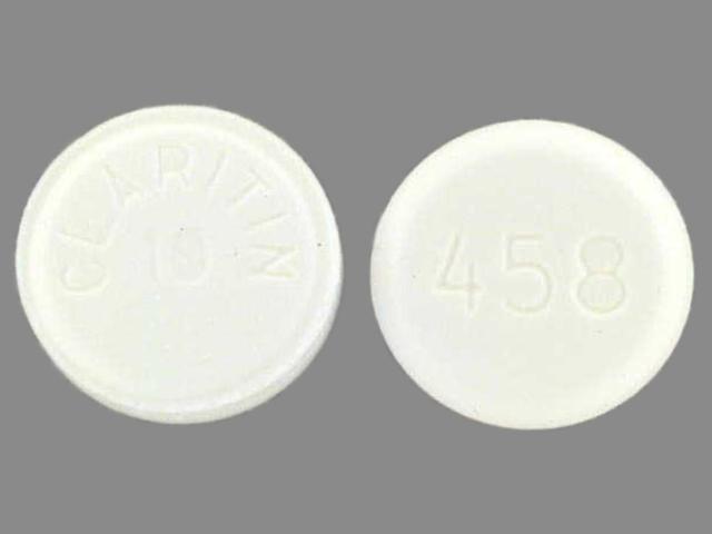 loratadine 10 mg - 458 claritin 10 ; claritin 10 458 ROUND WHITE image