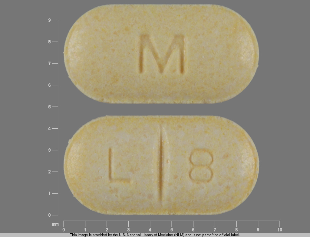 Oval Yellow L 8 L 8 M Images Levothyroxine Sodium